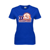 Ladies Royal T Shirt-Southland Conference Baseball Champions