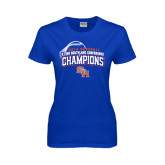 Ladies Royal T Shirt-Southland Conference Baseball Champions - Arched Version
