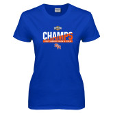 Ladies Royal T Shirt-Southland Conference Indoor Track and Field Champions
