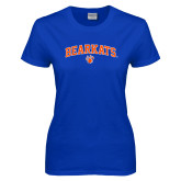 Ladies Royal T Shirt-Arched Bearkats w/Paw