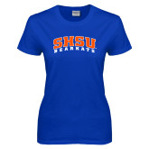 Ladies Royal T Shirt-Arched SHSU Bearkats