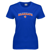 Ladies Royal T Shirt-Arched Sam Houston State Bearkats w/Paw