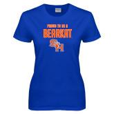 Ladies Royal T Shirt-Proud To Be A Bearkat