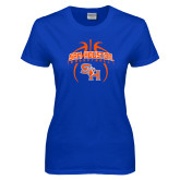 Ladies Royal T Shirt-Basketball in Ball
