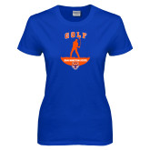 Ladies Royal T Shirt-Golf Stacked