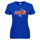 Ladies Royal T Shirt-Soccer Swoosh
