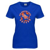Ladies Royal T Shirt-Soccer Circle
