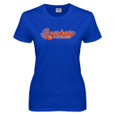 Ladies Royal T Shirt-Softball Lady Design