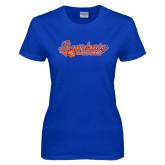 Ladies Royal T Shirt-Softball Lady Design