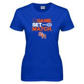Ladies Royal T Shirt-Tennis Game Set Match