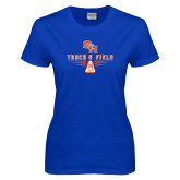 Ladies Royal T Shirt-Track and Field Design