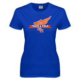 Ladies Royal T Shirt-Track and Field Side Design