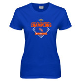 Ladies Royal T Shirt-2017 Southland Conference Baseball Champions