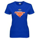 Ladies Royal T Shirt-2017 Southland Conference Baseball Champions