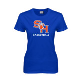 Ladies Royal T Shirt-Basketball