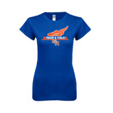 Next Level Ladies Softstyle Junior Fitted Royal Tee-Track and Field Side Design