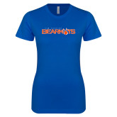 Next Level Ladies SoftStyle Junior Fitted Royal Tee-Sam Houston Bearkats
