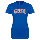 Next Level Ladies SoftStyle Junior Fitted Royal Tee-Arched SHSU