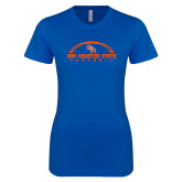 Next Level Ladies SoftStyle Junior Fitted Royal Tee-Arched Football Design
