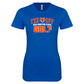 Next Level Ladies SoftStyle Junior Fitted Royal Tee-Golf Tee Off