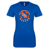 Next Level Ladies SoftStyle Junior Fitted Royal Tee-Soccer Circle