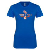 Next Level Ladies SoftStyle Junior Fitted Royal Tee-Track and Field Design