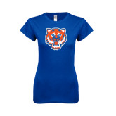 Next Level Ladies Softstyle Junior Fitted Royal Tee-Bearkat Head