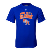 Under Armour Royal Tech Tee-Proud To Be A Bearkat Arched