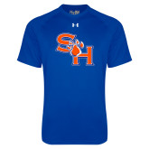 Under Armour Royal Tech Tee-SH Paw Official Logo