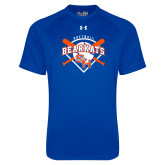 Under Armour Royal Tech Tee-Softball Design w/ Bats and Plate