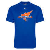 Under Armour Royal Tech Tee-Track and Field Side Design