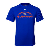 Under Armour Royal Tech Tee-Arched Football Design