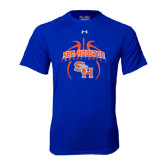 Under Armour Royal Tech Tee-Basketball in Ball