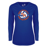 Ladies Syntrel Performance Royal Longsleeve Shirt-Volleyball Stars Design