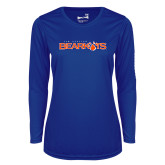 Ladies Syntrel Performance Royal Longsleeve Shirt-Sam Houston Bearkats