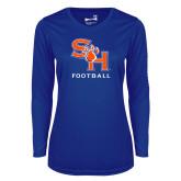 Ladies Syntrel Performance Royal Longsleeve Shirt-Football