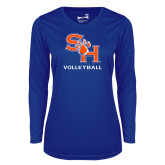 Ladies Syntrel Performance Royal Longsleeve Shirt-Volleyball