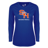 Ladies Syntrel Performance Royal Longsleeve Shirt-Basketball
