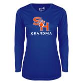 Ladies Syntrel Performance Royal Longsleeve Shirt-Grandma
