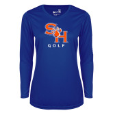 Ladies Syntrel Performance Royal Longsleeve Shirt-Golf