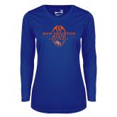 Ladies Syntrel Performance Royal Longsleeve Shirt-Tall Football Design