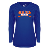 Ladies Syntrel Performance Royal Longsleeve Shirt-Baseball Bats