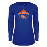 Ladies Syntrel Performance Royal Longsleeve Shirt-Basketball in Ball