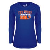 Ladies Syntrel Performance Royal Longsleeve Shirt-Golf Tee Off