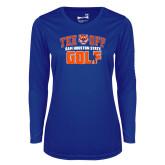 Ladies Syntrel Performance Royal Longsleeve Shirt-Golf Tee Off