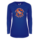 Ladies Syntrel Performance Royal Longsleeve Shirt-Soccer Circle