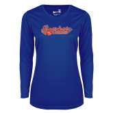 Ladies Syntrel Performance Royal Longsleeve Shirt-Softball Lady Design