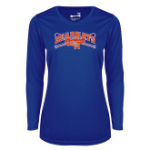 Ladies Syntrel Performance Royal Longsleeve Shirt-Baseball Design