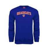 Royal Fleece Crew-Arched Bearkats w/Paw
