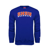 Royal Fleece Crew-Arched SHSU Bearkats